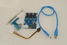 Новый PCIe 1 до 3 PCI Express 1X Слоты Riser Card Mini-ITX к внешним 3 pci-e адаптер слот pcie Порты и разъёмы Multiplier карты