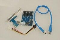 NEUE PCIe 1 um 3 PCI express 1X slots Riser Card Mini ITX externe 3 PCI-e slot adapter PCIe Port Multiplier karte