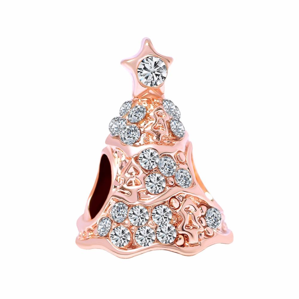 Free Shipping 1pc Rose Gold Twinkling Christmas Tree Charm Jewelry Making Diy Bead Fits European Pandora Charm Bracelets A744 Pandora Charm Bracelet Diy Beadsbeads Fit Aliexpress