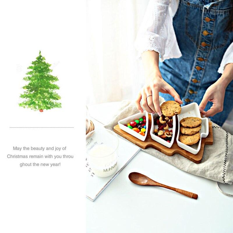 Creative Ceramics Christmas Tree Wood Tray  (7)