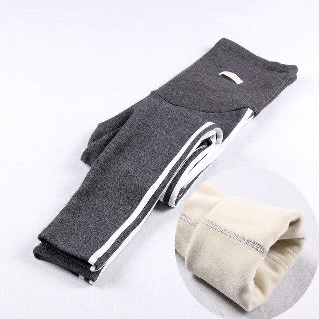 Был толщиной 2017 новая Зимняя Теплый родильных брюки стрейч Тонкий моды опоры живот беременных женщин карандаш брюки Беременных Брюки