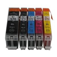 PGI570 CLI571 PGI 570BK CLI 571 Compatible Ink Cartridge For Canon PIXMA MG5750 MG5751 MG5752 MG5753