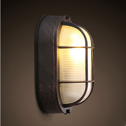 IWHD American Country LED Wall lamp Aluminum Industrial Wall Light Retro Personality Fixtures For Home Lighting Aisle Luminaire iwhd loft vintage led wall lamp glass lampshade retro industrial wall lights bedside light fixtures for home lighting luminaire