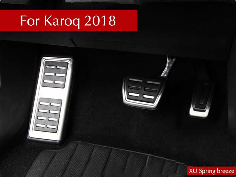 Para Skoda Karoq 2017 2018 2019 AT MT coche reajuste acelerador Pedal placa embrague acelerador freno pie Pedal