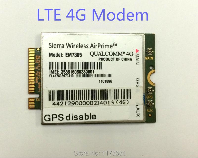 EM7305 4G LTE Module Support NGFF 4G Antenna gobi5000 FDD LTE/EVDO/DC-HSPA+ WWAN Netwwork card jinyushi for ln930 nrr39 ngff module card for dell wireless dw5810e venue 11 pro 4g lte dc hspa wwan 100% new