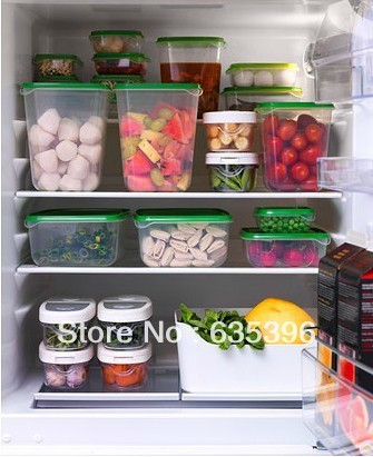 IKEA New 17 Plastic Food Storage Containers U0026 Green Lids BPA Free, Shipping  Free
