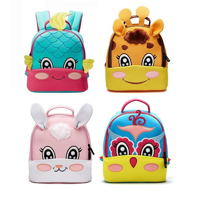 6406e195e5 Kindergarten Backpack Children 3D Embroidered Ultra Light Cute Cartoon  Animal Shape Backpack Lovely Kids Girl Boy Backpacks Bags