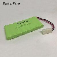 MasterFire 10 упак./лот Новый AA Ni-MH 9 6 в 1800 мАч Ni MH аккумуляторные батареи с двумя проводами