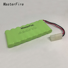 MasterFire 10Pack/lot Brand New AA Ni-MH 9.6V 1800mAh Ni MH Battery Rechargeable Batteries Pack With two wires Plugs