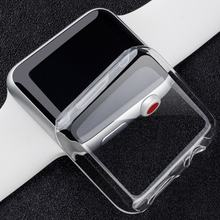 Cubierta protectora completa transparente TPU para Apple Watch funda 38mm 42mm para iWatch Series 4 3 2 funda banda Nueva 2019 nueva barata(China)