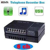 8 CH Remote Monitor Голосовая активация USB Телефон Recorder Телефон монитор, 8 канальный USB телефон Logger