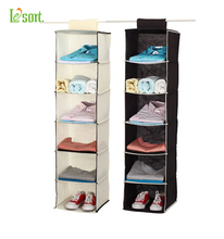 Household Essentials 6-Shelf Hanging Closet Organizer Shelves, Natural Non-woven
