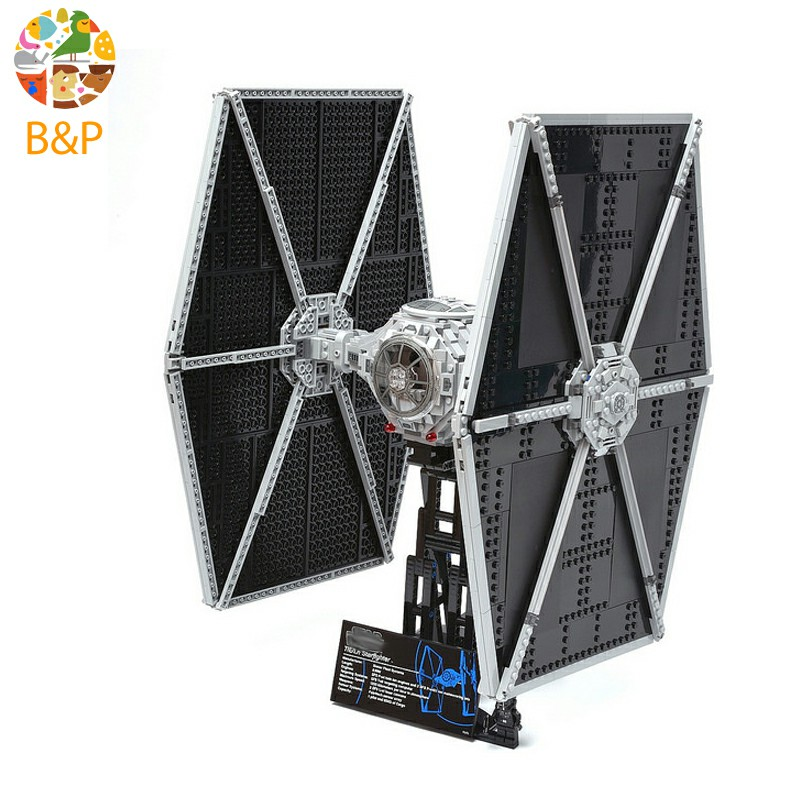 lepin 05036 1685PCS Star wars Series The TIE Fighter Model Building Block Brick Educational Kits Toys For Children 75095 Gift new 1685pcs lepin 05036 1685pcs star series tie building fighter educational blocks bricks toys compatible with 75095 wars