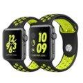 2016 NOVA pulseira de Silicone Colorido para iwatch Series1 2 NIKE apple watch band 38mm mulheres pulseira de borracha do esporte relógio de pulso com adaptador