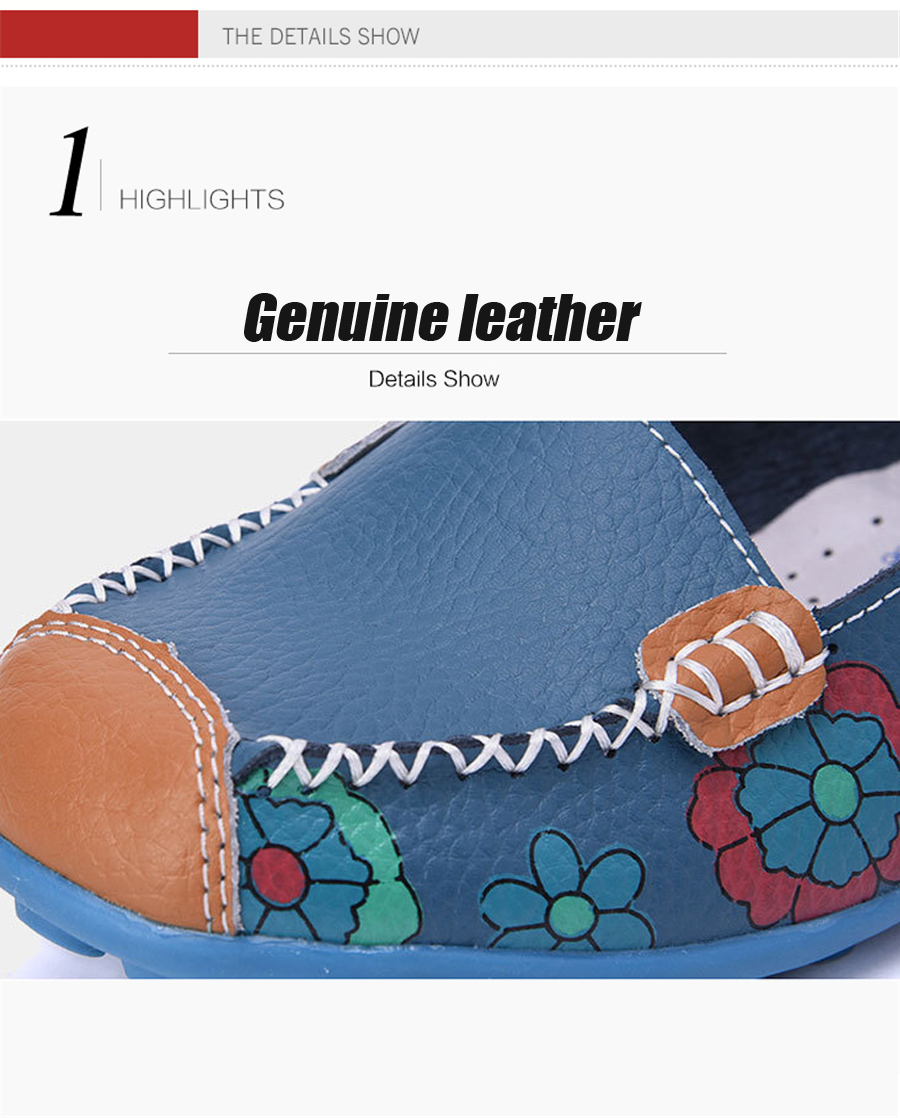 STS BRAND New Spring Women Genuine Leather Ballet Flats Casual Shoes Women Round Toe Slip On Flats Female Loafers Ballerina shoe (7)