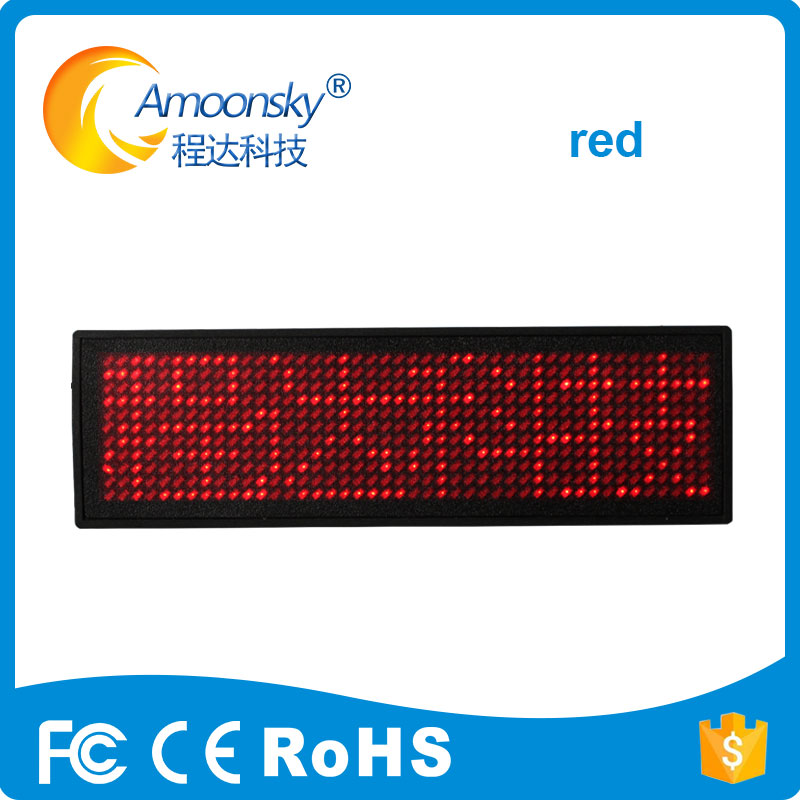 Programmable Scrolling Led Name Tag Red Blue Green Led Name Badge Rechargeable Name Tag Led