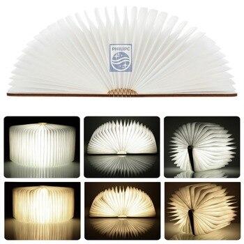 Ücretsiz kargo Ahşap Torna kitap Gece Lambası USB şarj edilebilir led lamba katlanır lamba kitap yaratıcı moda hediye masa lambası