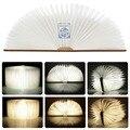 Бесплатная доставка токарная обработка дерева книги ночная USB аккумуляторная из светодиодов складной лампы книга творческий мода подарок настольная лампа