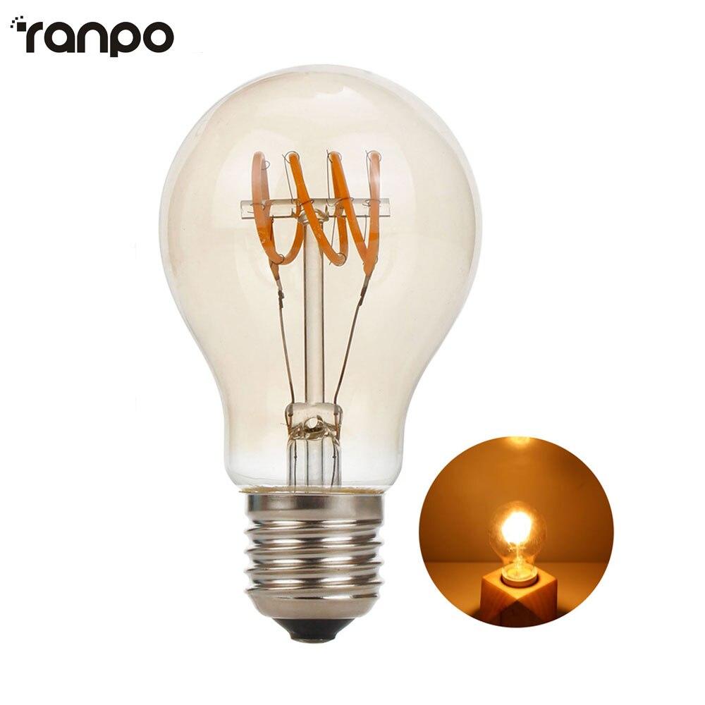 Lampade Led 220v.Us 8 15 30 Off Led Lamp E27 Tube Bulb 220v Light Bulbs 4w Retro Edison Filament For Home Decor Power Led Energy Saving Lampade In Led Bulbs Tubes