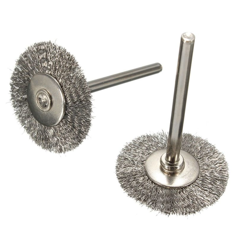 20Pcs Stainless Steel Wire Wheel Brush Cleaner Polishing For Rotary Grinder Tool