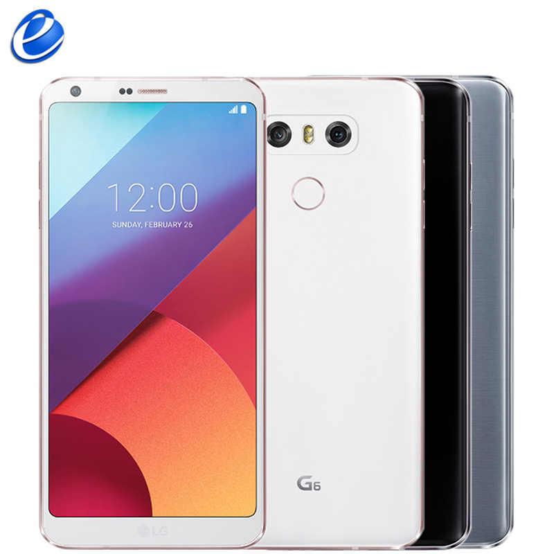"2017 LG G6 téléphone portable d'origine 4 GB RAM 32 GB 64 GB ROM simple sim H870 H871 double SIM H870DS 4G LTE 5.7 ""13.0MP Smartphone portable"