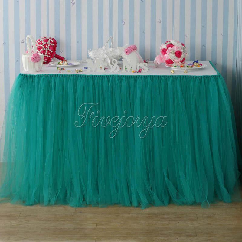 Teal Blue Tulle Tutu Table Skirt 100cm X 80cm Tulle Tutu