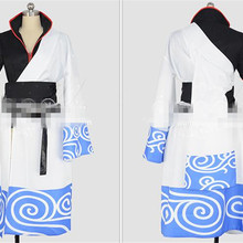 Japanese Anime GINTAMA Sakata Gintoki Cosplay Costume Anime Kimono Custom Made Woman Man Clothing