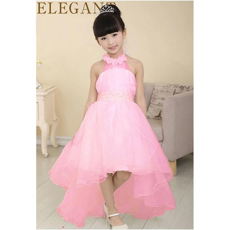 5ae367685 Flower Girl Dress For Wedding Party New Style Halter Princess ...