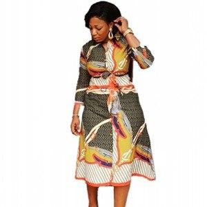 Image 2 - שמלות אפריקאיות נשים אפריקאי בגדים אפריקה שמלת הדפסת דאשיקי גבירותיי בגדי אנקרה בתוספת גודל אפריקה נשים שמלה