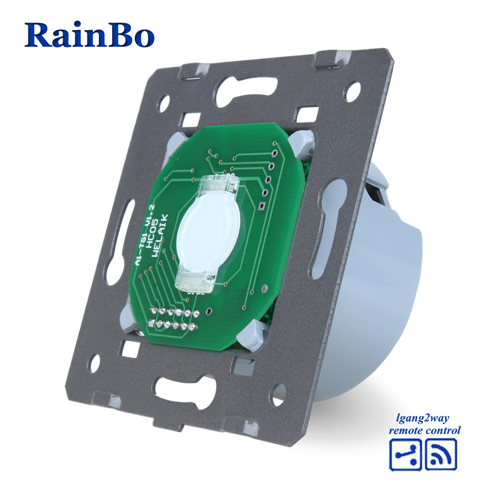 Rainbo Interruptor táctil piezas de bricolaje pared UE remoto pantalla táctil interruptor de luz de pared para LED 1gang2way 110 ~ 250 V A914