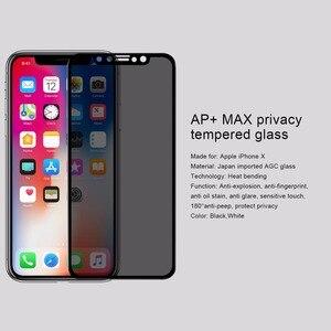 Image 3 - Nillkin Anti casus temperli cam iPhone 11 Xr cam ekran koruyucu Anti parlama gizlilik cam iPhone 11 Pro max X Xs Max