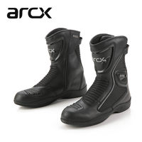 ARCX Men's Motorcycle Boots leather man shoes riding Breathable Motocross Moto Boots Protector Gear Cover Women Motorbike Shoes