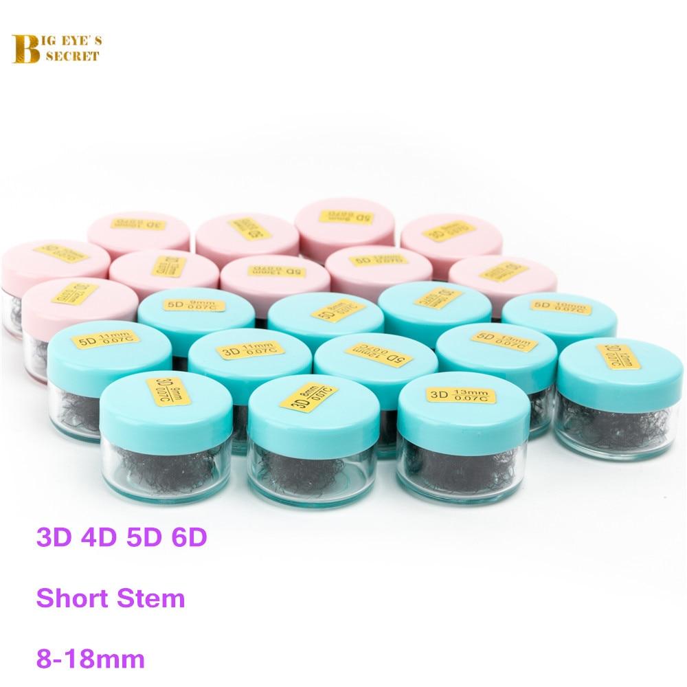 BES 500Fans/1000FansOne Jar Lashes Extension Heat Bonded Pre Made Volume  Fans Premade Russian Volume Eyelash Extension Supplies