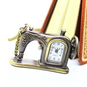 Карманные часы и ожерелье P515, античные бронзовые швейные машины, рождественский подарок