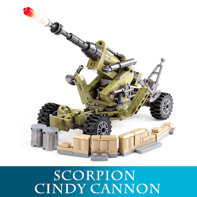 Blocks Toys & Hobbies Hospitable Xingbao 06011 Genuine 350pcs Military Series The Scorpion Cindy Cannon Set Building Blocks Bricks Educational Toys As Funny Gift Structural Disabilities