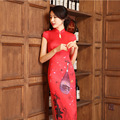 Red New Arrival Chinese FemaleTradition Qipao High Quality Slim Cheong-sam Tang Suit Dress Size S M L XL XXL