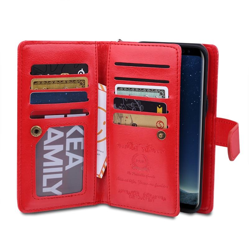 Untuk Samsung S8 Plus Kasus Dompet Mewah Kulit Flip Cover Untuk - Aksesori dan suku cadang ponsel - Foto 4