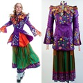 Alice Through The Looking Glass Alice Mandarin Outfit Cosplay Costume Women Girls All set Hot Movie