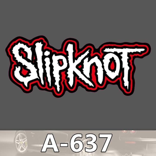 035 A 637 Slipknot Heavy Metal Band Fresca Impermeable Bricolaje Pegatinas De Coche De Dibujos Animados De Graffiti De Equipaje Frigorífico