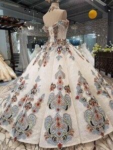 Image 4 - 2018 نمط جديد العروس كلمة واحدة الكتف الكورية الذاتي زراعة رقيقة موجزة طويلة خياطة اللون فستان الزفاف فستان كامل 2411