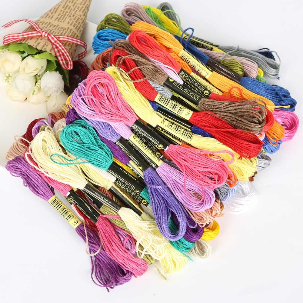 Cross Stitch Threads The Chinese Style 8/50/100pcs Mixed 7.5m Similar DMC Cotton Embroidery thread Floss Sewing Skeins Craft
