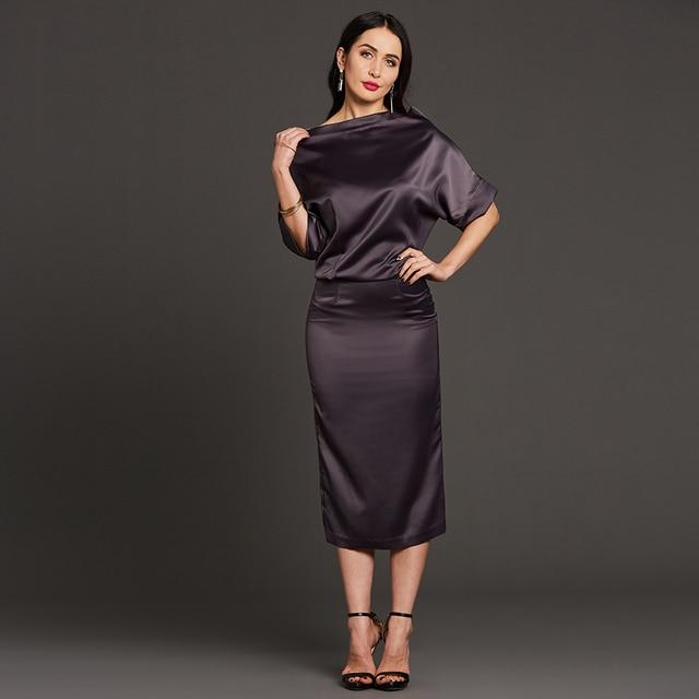 Bandage Dress Women Batwing Sleeve Straight Slash Neck Plus Size
