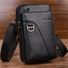 Belt Fanny-Hook-Pack Crossbody-Waist-Bag Shoulder-Bag Mobile-Phone-Case Genuine-Leather