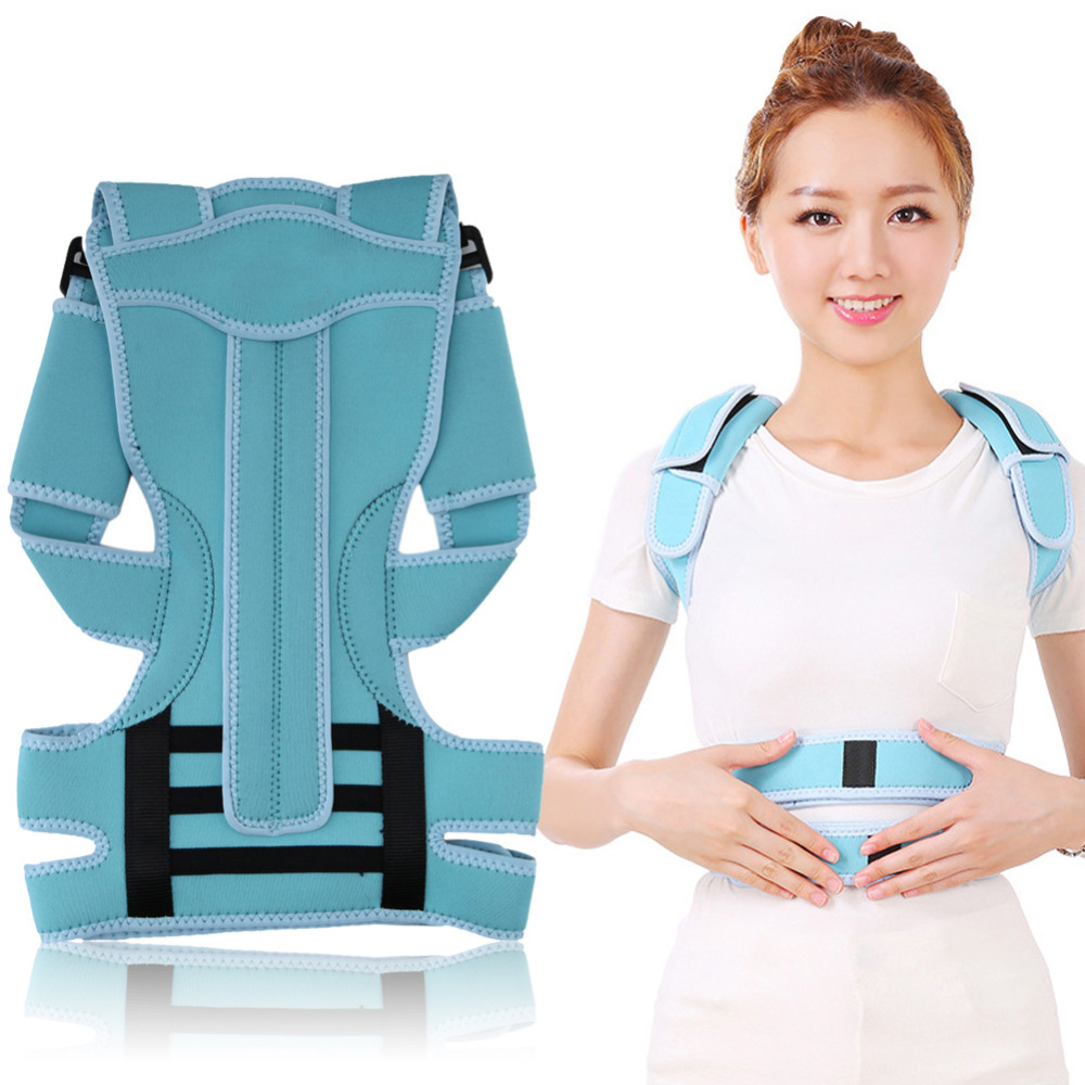 Back Shoulder Posture Corrector Brace Adjustable Adult Corset Back Posture Corrector Back Shoulder Spine Support Correction Belt adult back corset posture corrector back shoulder lumbar braces spine support belt posture correction back support for men women
