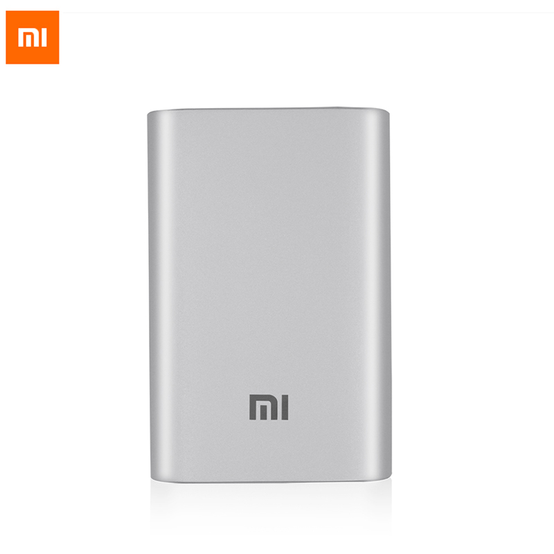 Original font b Xiaomi b font Power bank 10000mAh 18650 battery mi Powerbank Portable external battery