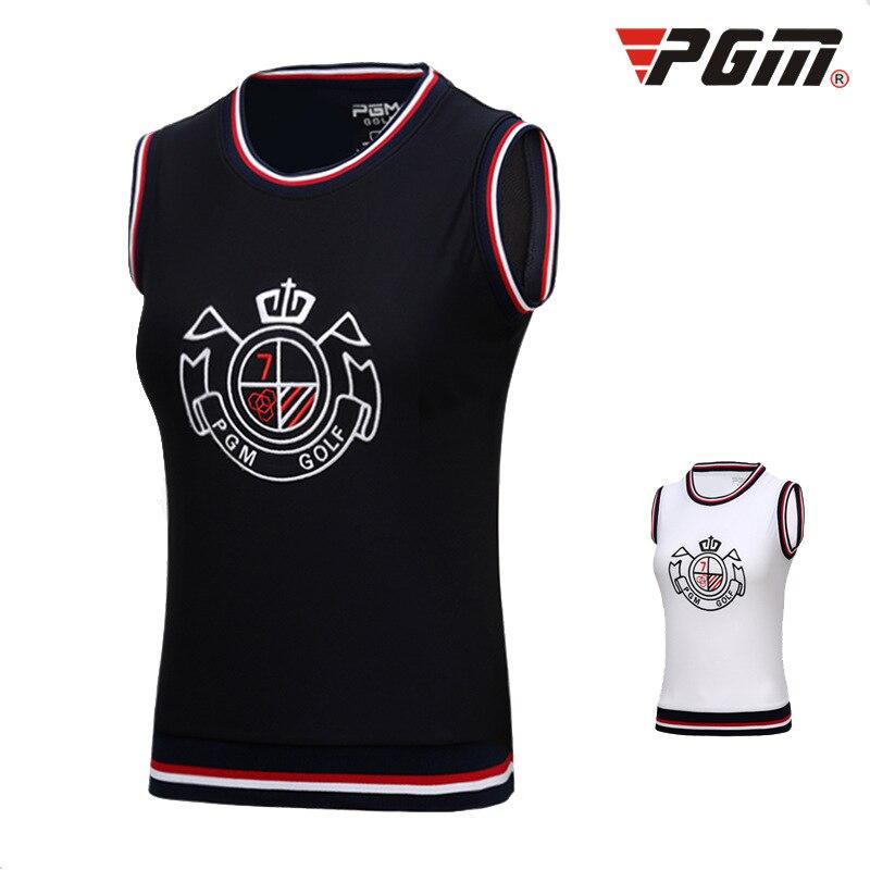 2020 PGM Autumn Vest Women Tops Golf Shirt Clothes Sports Sleeveless T Shirt College Style Korean O-neck Sportswear D0496