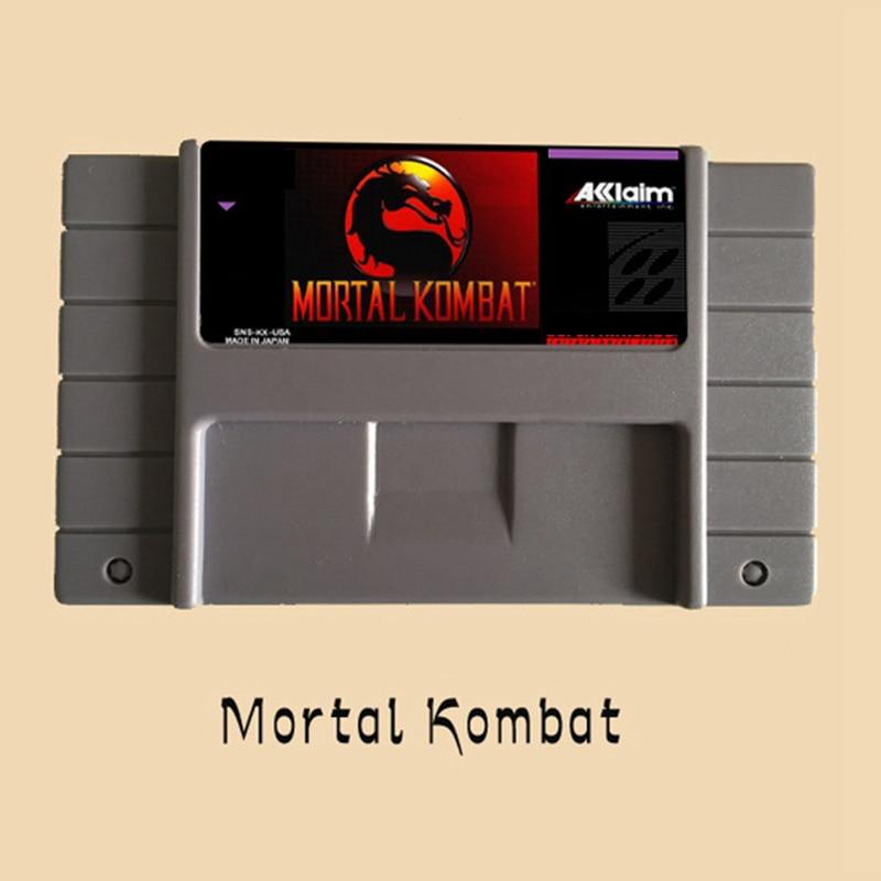 Naujas atvykimas Mortal Kombat 16 bitų Big Grey Game Card