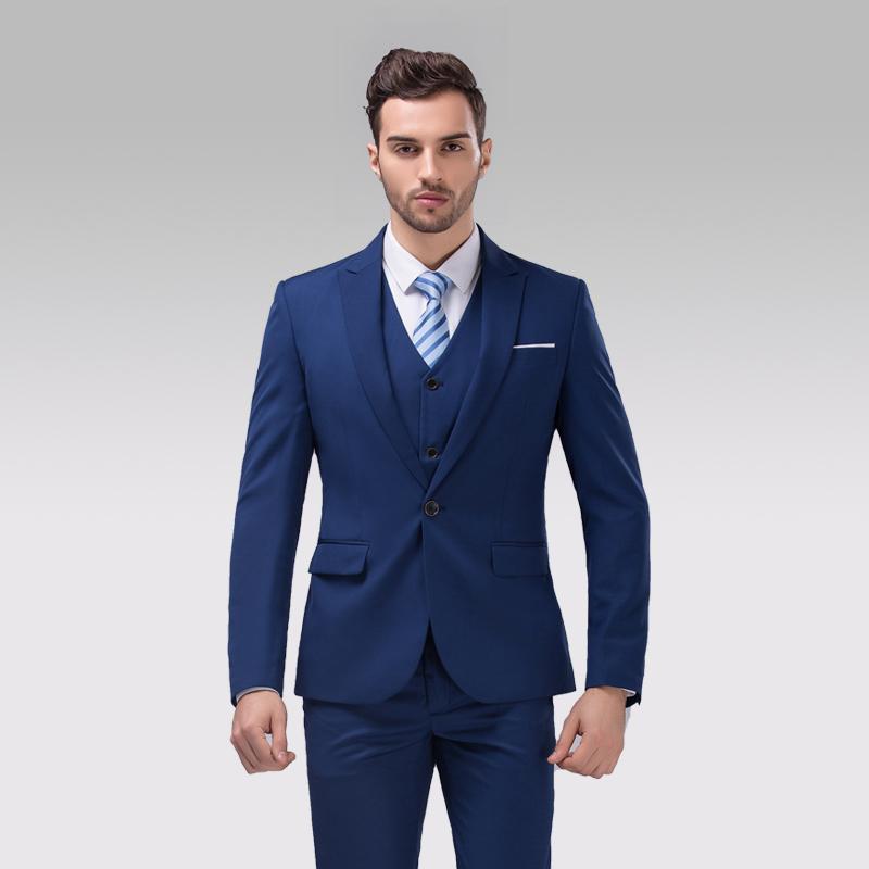 Beige wedding suits for men Jacket Pants Tie Vest mens Tuxedos ...