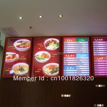 LED alto brillo delgado de publicidad caja de luz a2 para el restaurante, tablero del menú del restaurante de comida rápida
