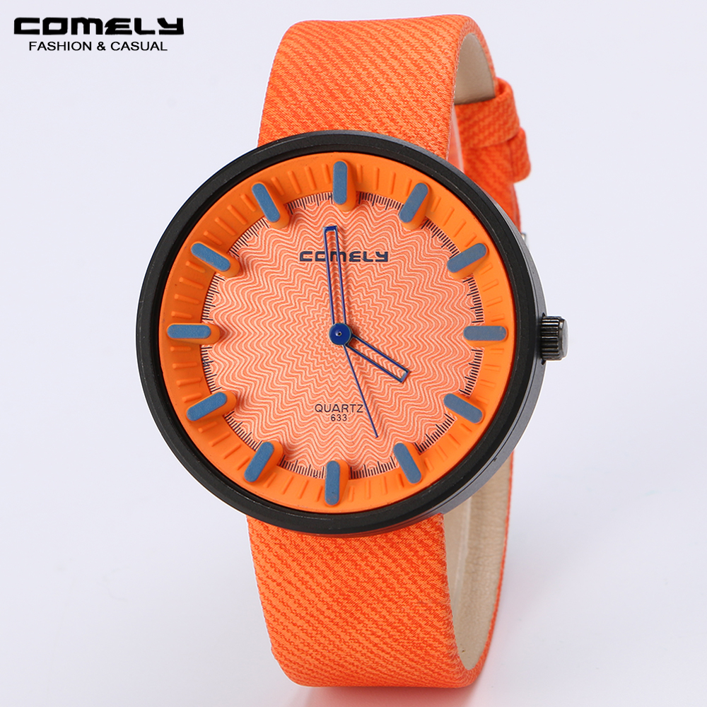 COMELY Woman multi-colored quartz watchess